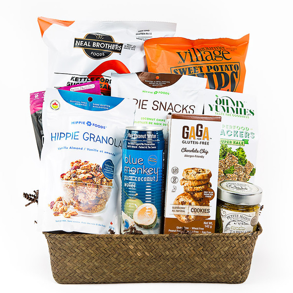 Gluten free gift basketsgluten free gifts a mix of salty and sweet for the gluten free lover a perfect gift basket negle Choice Image