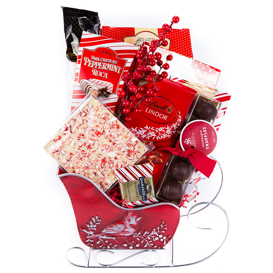 Red Sleigh Lindt Lindor Dark Chocolate Gift