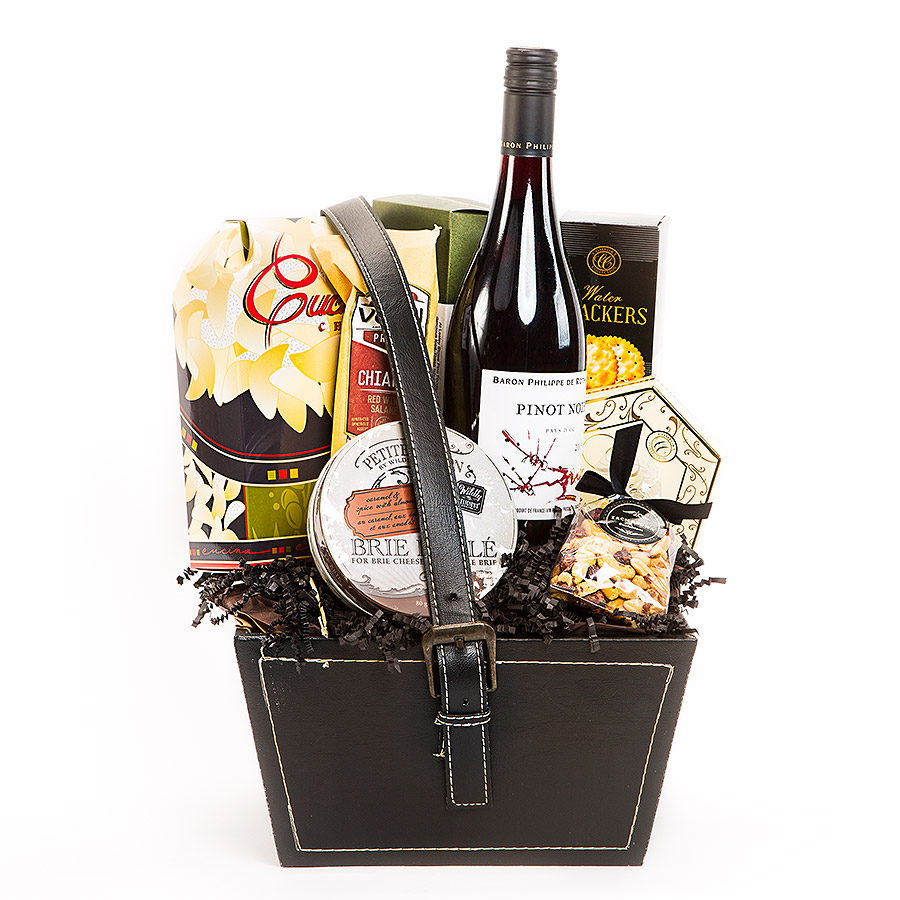 Red Wine Gift Basket