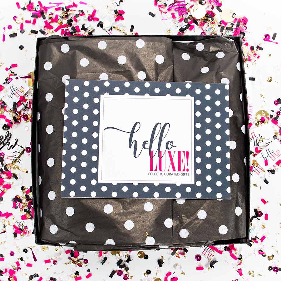 Inside a Hello Luxe Gift Box