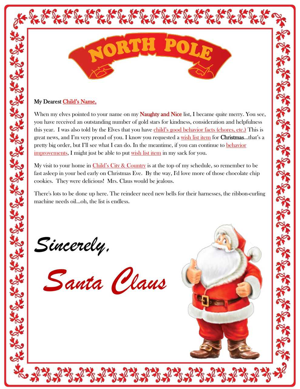 Letter from santa claus whata basket gift baskets letter from santa claus spiritdancerdesigns Images