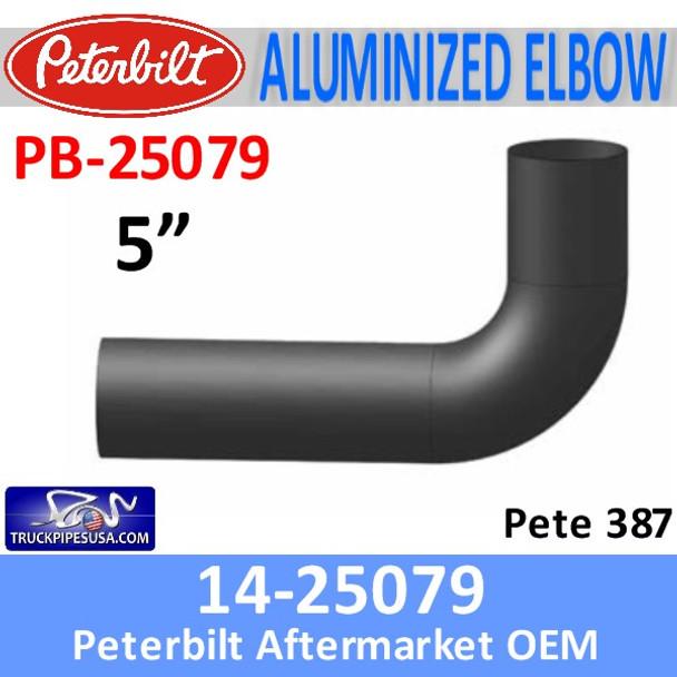 14-25079 Peterbilt 387 Aluminized Exhaust Elbow PB-25079
