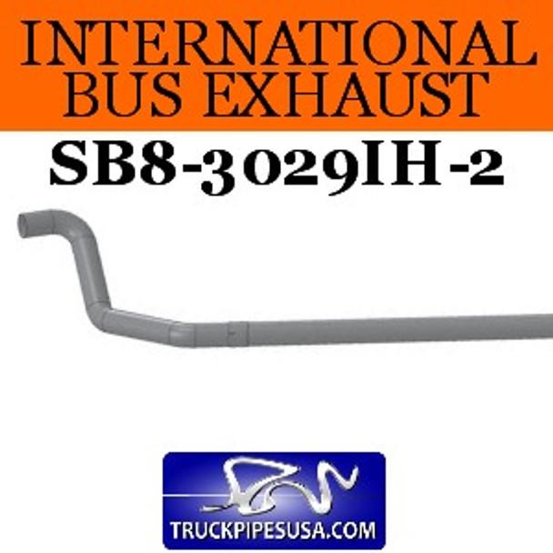 "1610299C3 2pc International Bus Pipe 3 Bend 4"" OD-OD EXT ALZ"