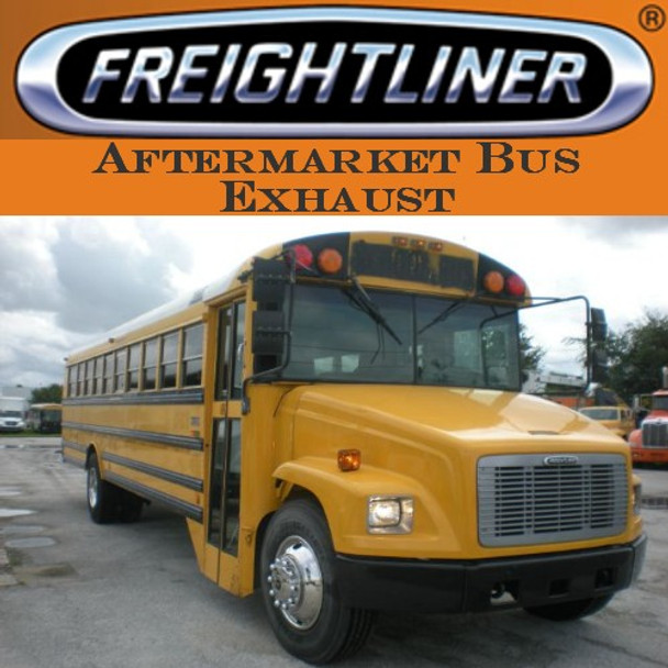 """04-18157-000  3"""" Freightliner Bus Exhaust 2 Bend OD/FLARE SS"""