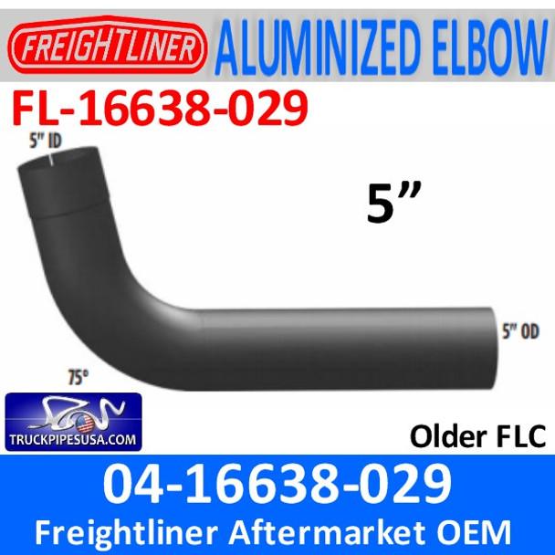 """04-16638-029 Freightliner 75 Deg ALZ Elbow 5"""" ID-OD FL-16638-029"""