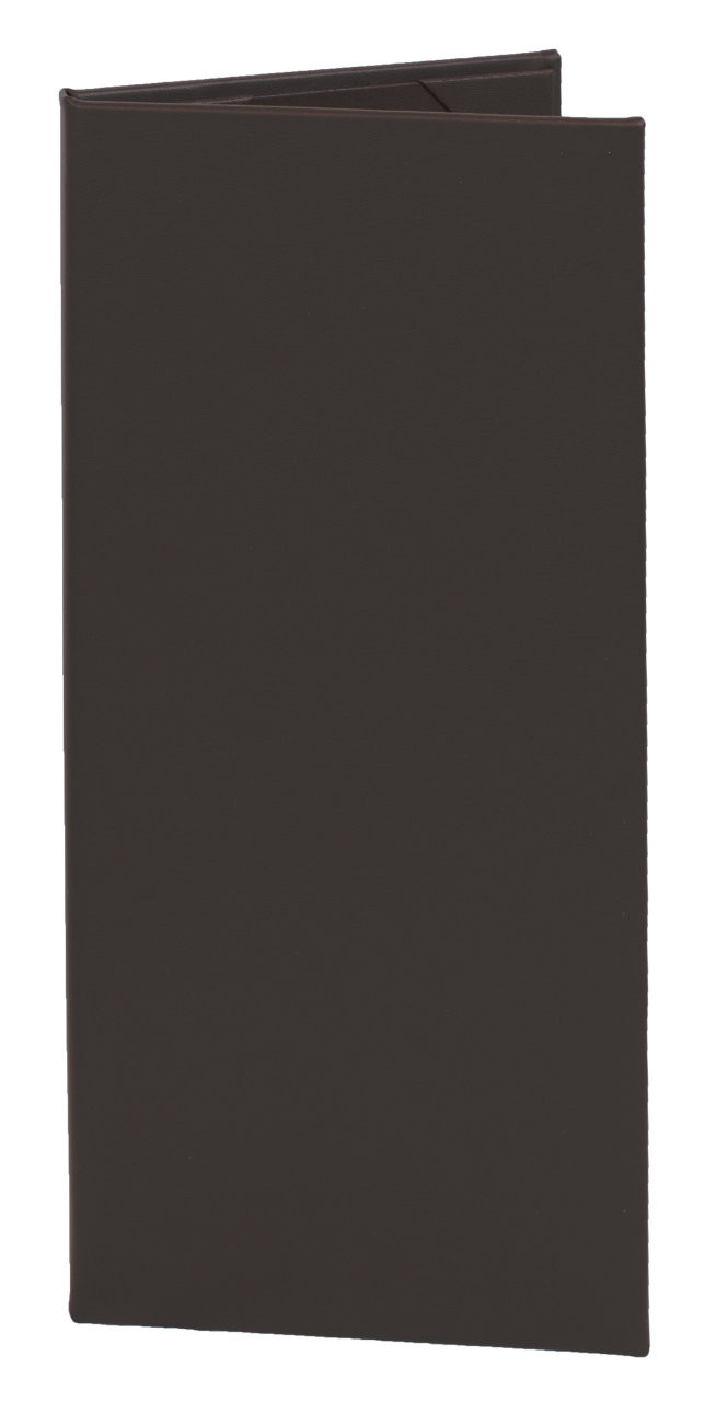 "4.25"" x 11"" Insert, 2-Panel Menu Cover Dark Brown"