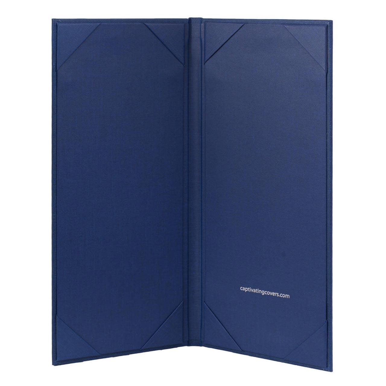 4.25 in. x 11 in. Insert, 2-Panel Menu Cover Blue (inside)