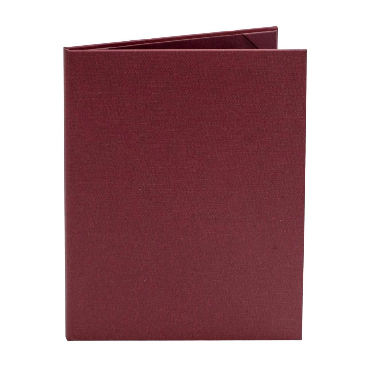 Retro Menu Cover (Burgundy) 8.5 in. x 11 in. Insert, 2-Panel (outside view)