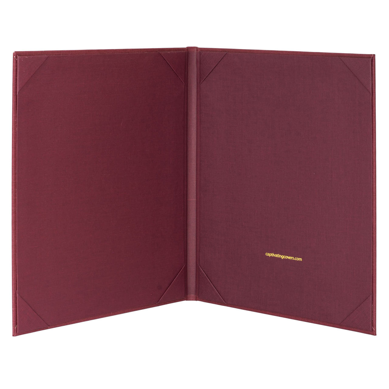 Retro Menu Cover (Burgundy) 8.5 in. x 11 in. Insert, 2-Panel (inside view)