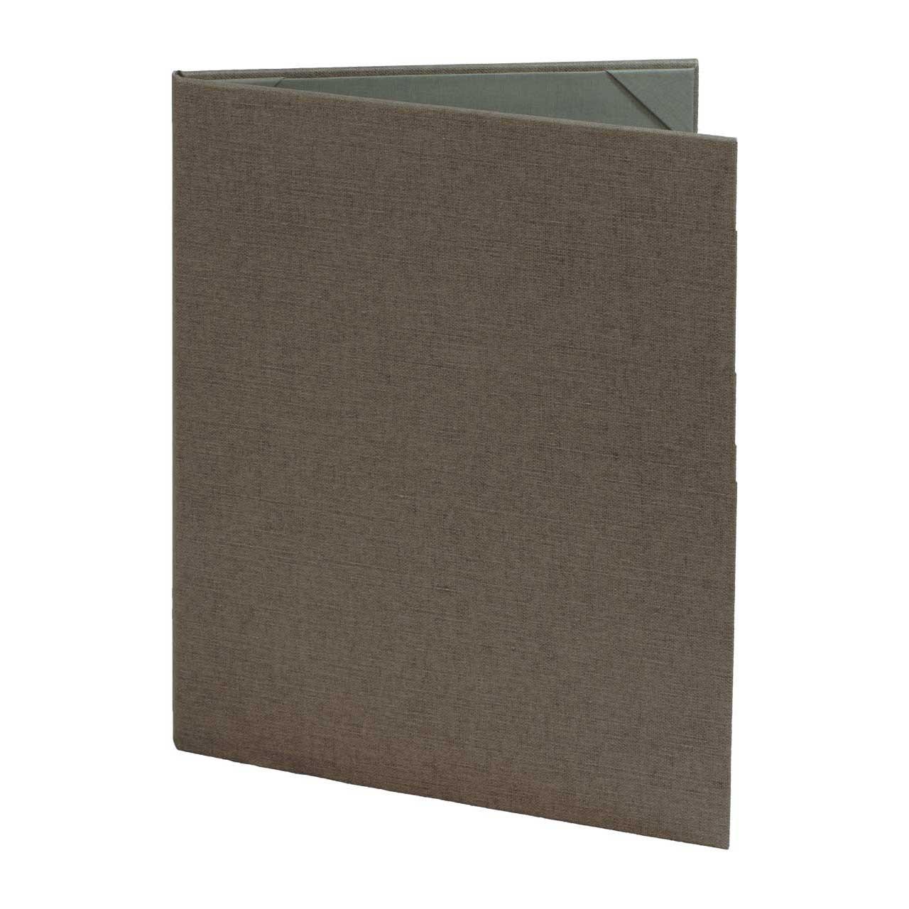 8 1/2 x 11 Insert, 2-Panel Menu Cover (Gray)