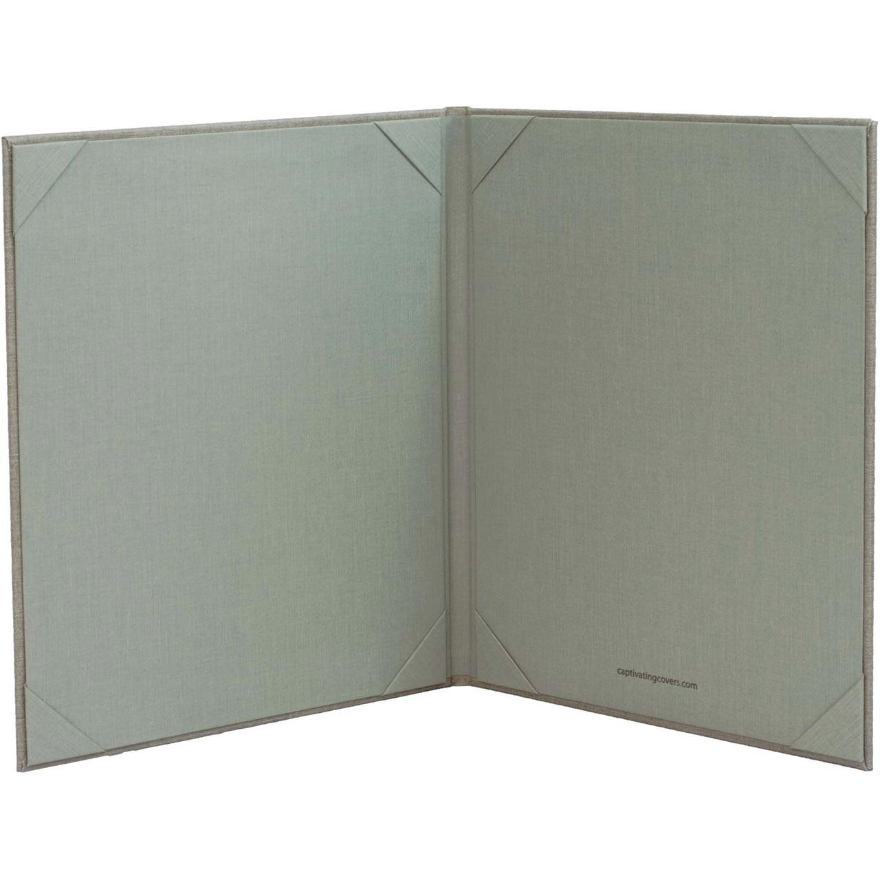 8.5 x 11 Insert, 2-Panel Menu Cover (Gray - inside)