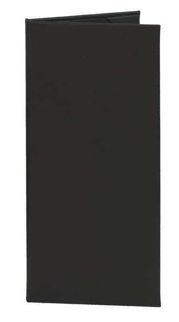 "4.25"" x 11"" Insert, 2-Panel Menu Cover Black"