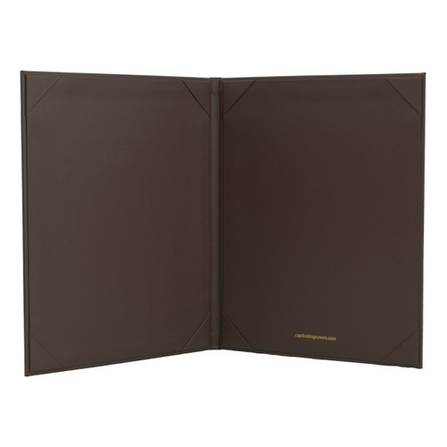 "8 1/2"" x 11"" Insert, 2-Panel Menu Cover Dark Brown (inside)"