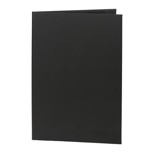 Menu Cover, 2-Panel with 8.5 in. x 14 in. Inserts  Black (outside)