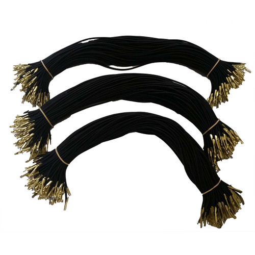 Heavy duty elastic cord with brass (gold colored) barbs on each end