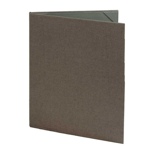 8 1/2 x 11 Insert, 2-Panel Menu Cover (Gray)
