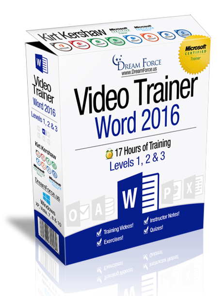 Word 2016 Training Videos Level 3 - Download