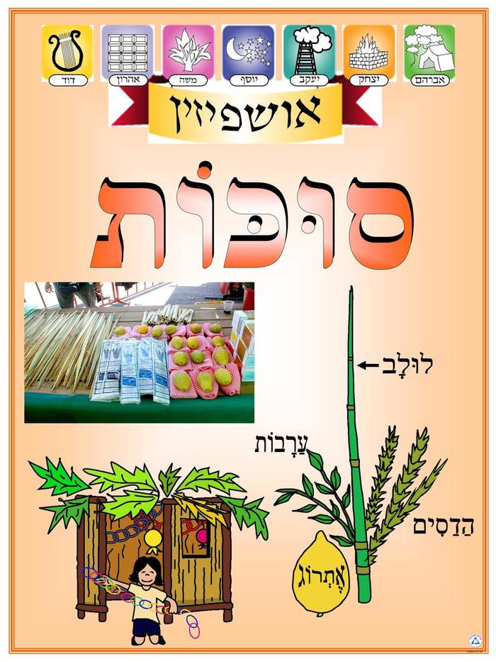 Sukkot Symbols Poster