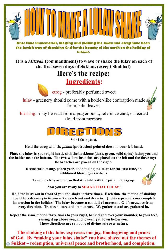How to Make a Lulav Shake Poster