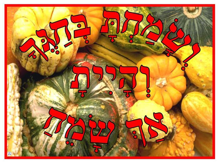 V'samachta B'chagecha Gourds Poster