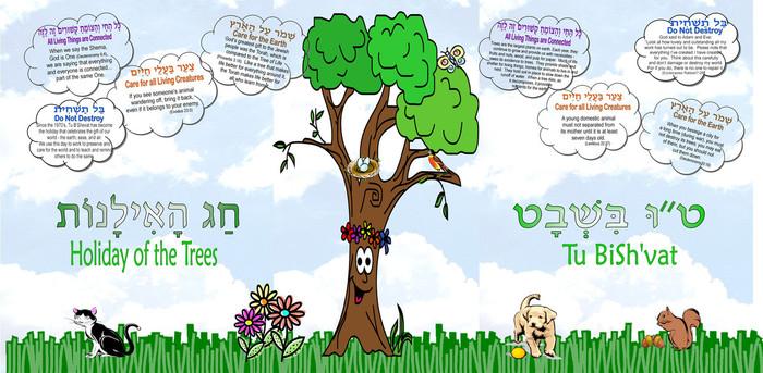 Tu BiSh'vat Bulletin Board Poster