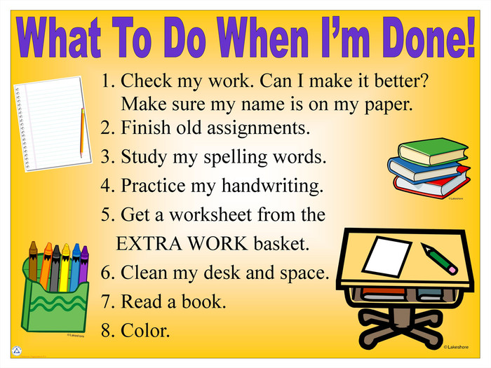 What To Do When I'm Done!