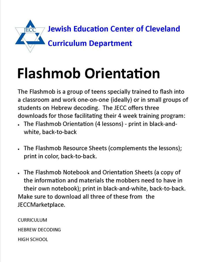 Hebrew Flashmob Orientation