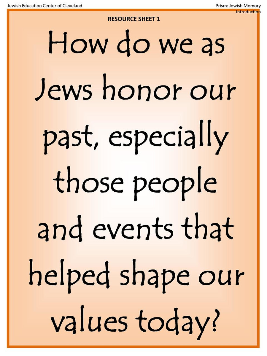 The Prism Project  (Jewish Memory) Poster Set
