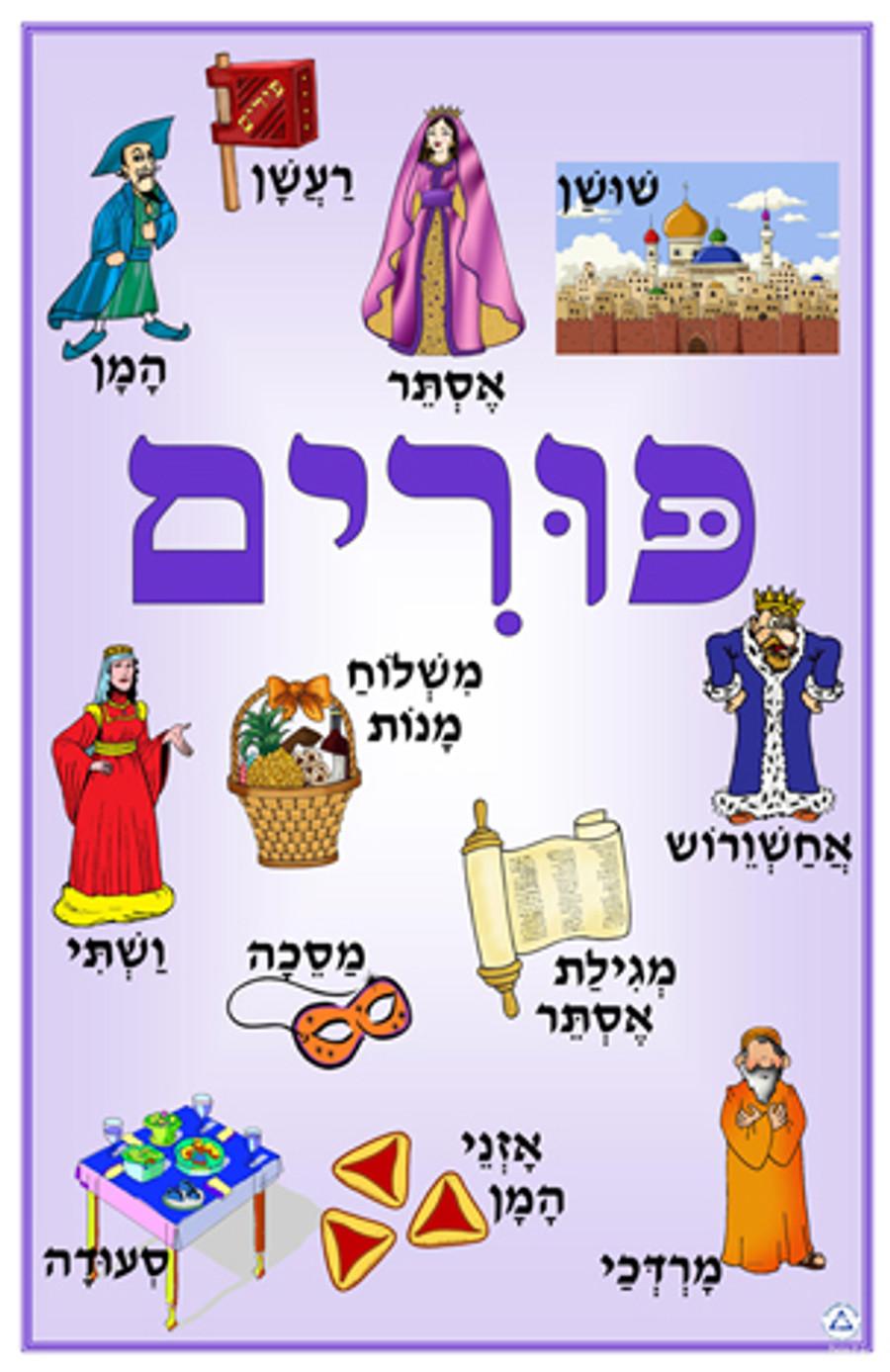 Purim Symbols Poster