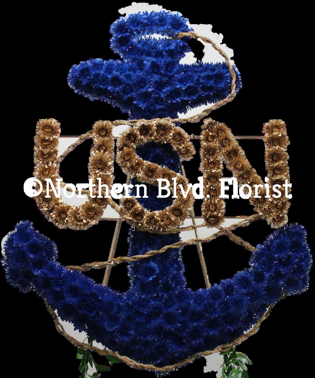 Anchor custom funeral piece northern blvd florist queens anchor custom funeral piece izmirmasajfo