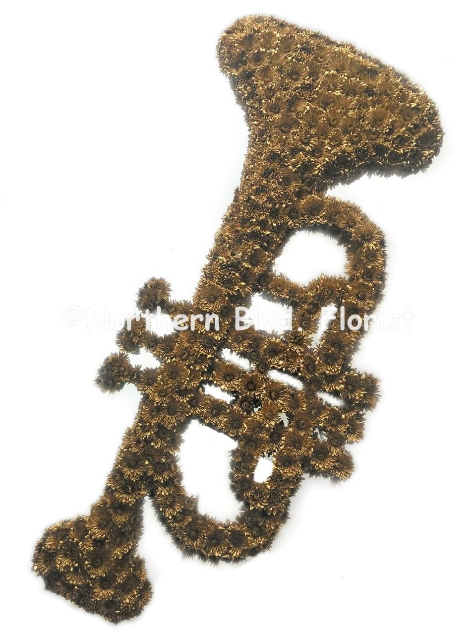 Trumpet funeral flowers custom funeral piece trumpet funeral flowers izmirmasajfo