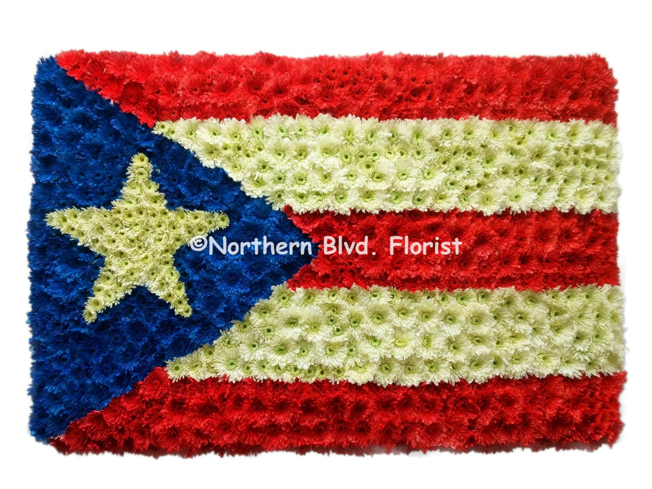 Puerto Rico Flag Funeral Flowers