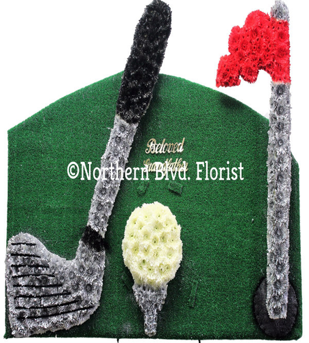 Golf Custom Funeral Flowers