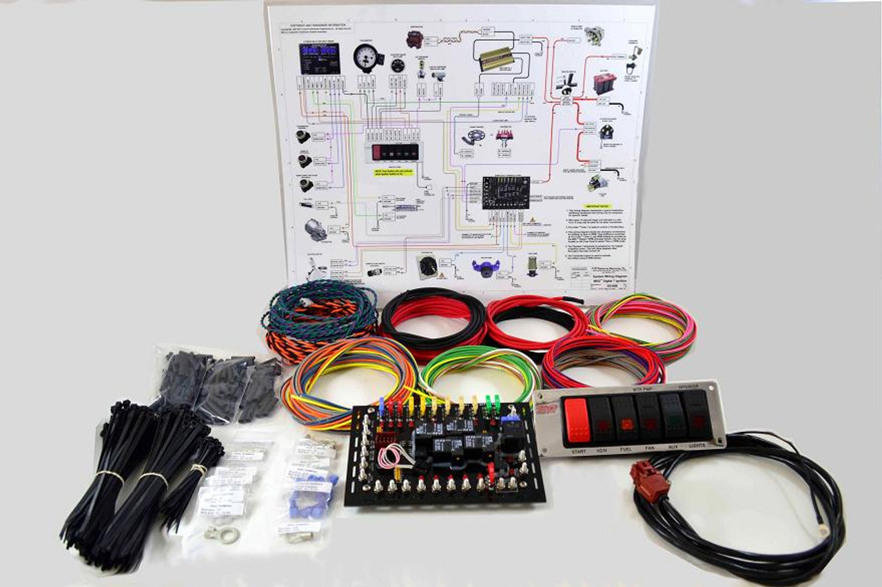 super duty complete wiring kit quarter max chassis racing components rh quartermax com auto electrical wiring products for modern classic & vintage vehicles Simple Auto Wiring Diagram
