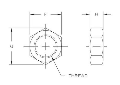 "Aurora Bearing 5/8"" Bore x 3/4""-16 Thread Mild Steel Rod End Kit - Jam Nut Diagram"