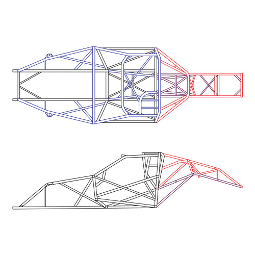 4130 Unwelded 25.1 Pro Stock/Top Sportsman Chassis Kit