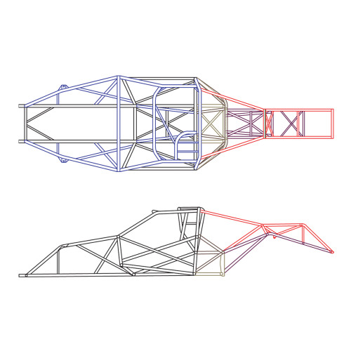 4130 Unwelded Pro Stock Truck Chassis Kit