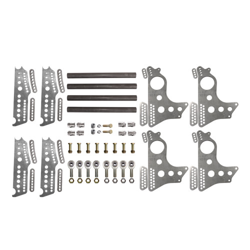 """Quarter-Max 201214-1 Extreme Pro Series 4-Link Kit with 13"""" Notch Spread Chassis Brackets"""