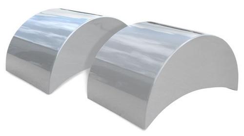"Quarter-Max 46"" Silver Carbon Fiber Wheel Tubs"