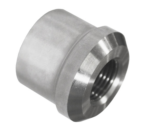 "5/8""-18 RH x 1-1/4"" .065"" Tube Adapter, Short Style, Titanium"