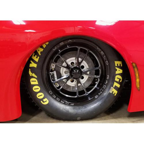 "Weld Racing Full Throttle, 15"" x 3.5"", Anglia, 1.75"" BS, Black - Installed"