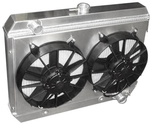 1964-1967 GTO Aluminum Radiator with Dual Fans - Pontiac V8 Engines