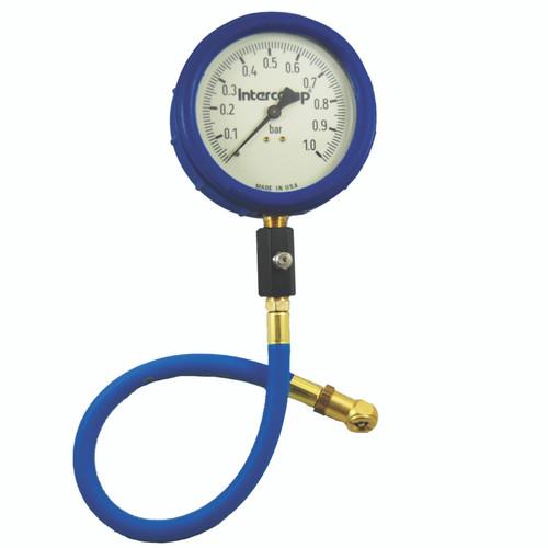 "4"" Ultra Deluxe Glow-in-the-Dark Air Pressure Gauge, 0-4 Bar"