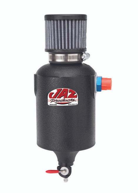 1 Quart Breather Tank, Black, AN-12 Fitting