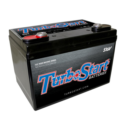 "16 Volt AGM Race Battery, 10.30"" L x 6.75"" W x 7.25"" H"