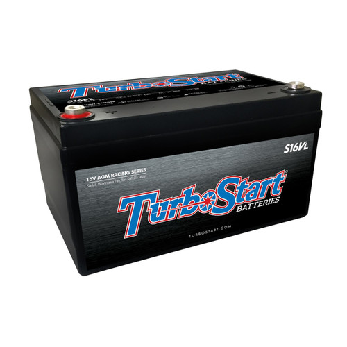 "16 Volt Lightweight AGM Race Battery, 10.30"" L x 6.75"" W, 6.00"" H"
