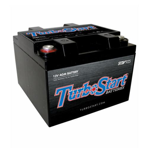 "TurboStart S12V925 12 Volt AGM Race Battery, 6.50"" L x 7.00"" W x 5.00"" H"
