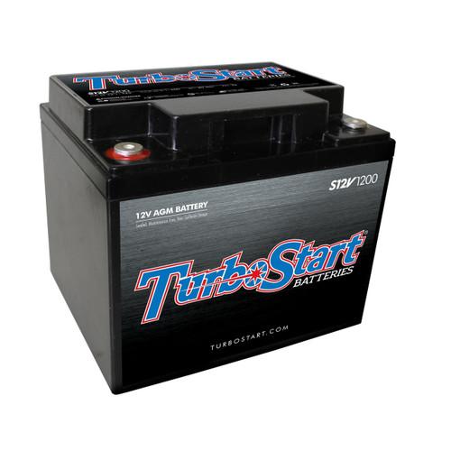 "TurboStart S12V1200 12 Volt AGM Race Battery, 8.00"" L x 6.50"" W x 6.75"" H"