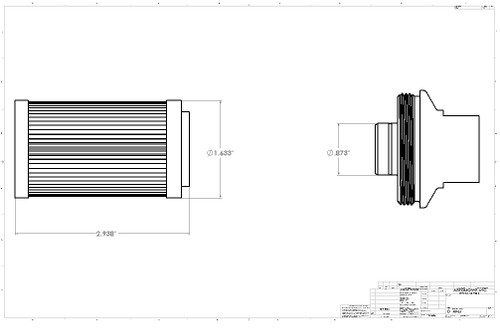 """Aeromotive 12604 Replacement Element, 100-m Cellulose Element, Fits All 2"""" OD Filter Housings"""