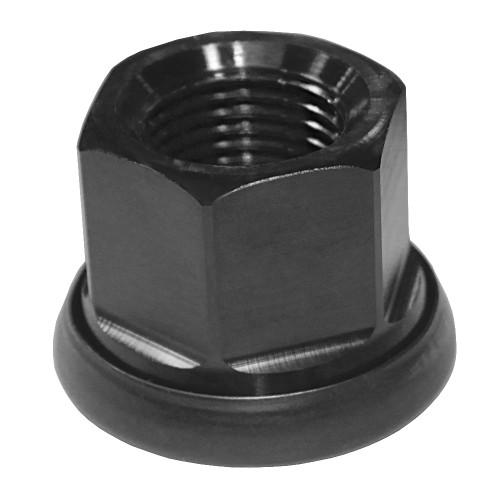 """Quarter-Max 600067-1 Aluminum Lug Nut, Black, 11/16""""-18 Threads"""